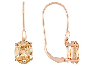 Brown Cubic Zirconia 18k Rose Gold Over Silver Earrings 9.70ctw