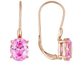 Pink Cubic Zirconia 18k Rose Gold Over Silver Earrings 9.70ctw