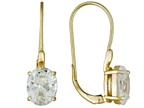 Cubic Zirconia 18k Yellow Gold Over Silver Earrings 9.70ctw