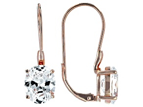 Cubic Zirconia 18k Rose Gold Over Silver Earrings 9.70ctw
