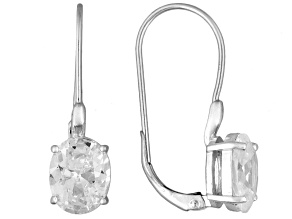 Cubic Zirconia Silver Earrings 9.70ctw