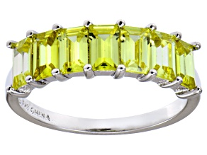Bella Luce® 3.50ctw Emerald Cut Yellow Diamond Simulant Sterling Silver Ring