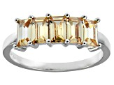 Bella Luce® 2.5ctw Emerald Cut Champagne Diamond Simulant Sterling Silver Ring