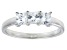 Bella Luce® 1.50ctw Princess Cut White Diamond Simulant Sterling Silver Ring