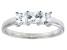 Bella Luce® 1.50ctw Princess Cut White Diamond Simulant Sterling Silver Ring