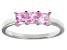 Bella Luce® 1.50ctw Princess Cut Pink Diamond Simulant Sterling Silver Ring