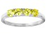 Bella Luce® .1.16ctw Round Yellow Diamond Simulant Sterling Silver Ring