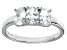 Bella Luce® 2.19ctw Oval White Diamond Simulant Sterling Silver 3 Stone Ring