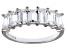 Bella Luce® 3.50ctw White Diamond Simulant Sterling Silver 7 Stone Ring