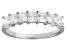 Bella Luce® White Diamond Simulant Sterling Silver 7 Stone Ring