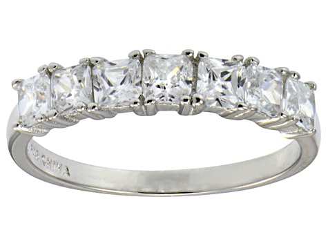 Bella Luce® 2.10ctw Princess Cut White Diamond Simulant Sterling Silver Ring