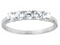 Bella Luce® .90ctw Round White Diamond Simulant Sterling Silver Ring