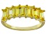 Bella Luce® Yellow Diamond Simulant 18k Gold Over Sterling Silver 7 Stone Ring