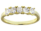 Bella Luce® White Diamond Simulant 18k Gold Over Sterling Silver 5 Stone Ring