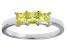 Bella Luce® 1.50ctw Princess Cut Yellow Diamond Simulant Sterling Silver Ring