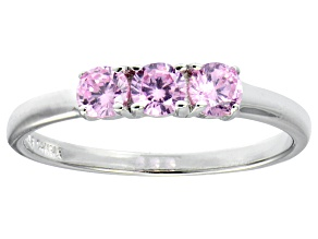 Bella Luce® .87ctw Round Pink Diamond Simulant Sterling Silver Ring