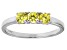 Bella Luce® .87ctw Round Yellow Diamond Simulant Sterling Silver Ring