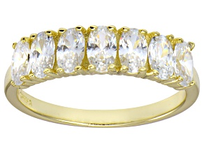Bella Luce® White Diamond Simulant 18k Gold Over Sterling Silver 7 Stone Ring