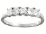Bella Luce® 1ctw Cushion White Diamond Simulant Sterling Silver 5 Stone Ring