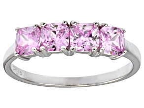 Bella Luce® 2.10ctw Cushion Pink Diamond Simulant Sterling Silver Ring