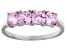 Bella Luce® 2.10ctw Cushion Pink Diamond Simulant Sterling Silver Ring