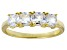 Bella Luce® White Diamond Simulant 18k Gold Over Sterling Silver 4 Stone Ring