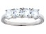 Bella Luce® Cushion White Diamond Simulant Sterling Silver 4 Stone Ring