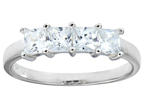 Bella Luce® 2.00ctw Princess Cut White Diamond Simulant Sterling Silver Ring