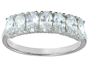 Bella Luce® 2.45ctw Oval White Diamond Simulant Sterling Silver 7 Stone Ring