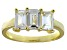 Bella Luce® White Diamond Simulant 18k Gold Over Sterling Silver 3 Stone Ring