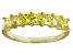 Bella Luce® Yellow Diamond Simulant 18k Gold Over Sterling Silver Ring
