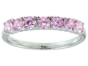 Bella Luce® 1.26ctw Round Pink Diamond Simulant Sterling Silver Ring