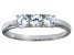 Bella Luce® .87ctw Round White Diamond Simulant Sterling Silver Ring