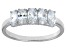 Bella Luce® 1.75ctw Oval White Diamond Simulant Sterling Silver 5 Stone Ring