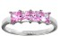 Bella Luce® 2.00ctw Princess Cut Pink Diamond Simulant Sterling Silver Ring