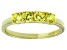 Bella Luce® 1.16ctw Yellow Diamond Simulant 18k Gold Over Sterling Silver Ring
