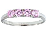 Bella Luce® .1.16ctw Round Pink Diamond Simulant Sterling Silver Ring