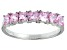 Bella Luce® 1.89ctw Cushion Pink Diamond Simulant Sterling Silver 7 Stone Ring