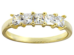 Bella Luce® White Diamond Simulant 18k Gold Over Sterling Silver Ring