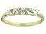 Bella Luce® Round White Diamond Simulant 18k Gold Over Sterling Silver Ring