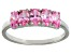 Bella Luce® 1.75ctw Oval Pink Diamond Simulant Sterling Silver 5 Stone Ring