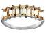Bella Luce® 3.5ctw Emerald Cut Champagne Diamond Simulant Sterling Silver Ring