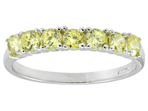 Bella Luce® 1.26ctw Round Yellow Diamond Simulant Sterling Silver Ring