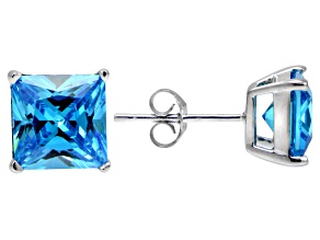 Bella Luce® Esotica™ 6.65ctw  Neon Apatite Simulant Sterling Silver Stud Earrings