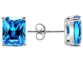 Bella Luce® Esotica™ 8.92ctw  Neon Apatite Simulant Sterling Silver Stud Earrings