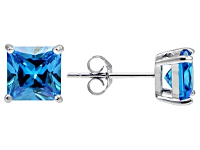 Bella Luce® Esotica™ 4.20ctw Neon Apatite Simulant Sterling Silver Stud Earrings