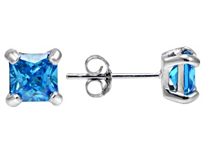 Bella Luce® Esotica™ 2.42ctw  Neon Apatite Simulant Sterling Silver Stud Earrings