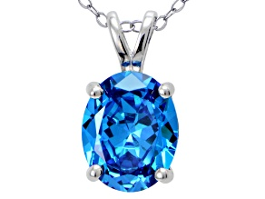 Bella Luce® Esotica™ 4.31ct Neon Apatite Simulant Sterling Silver Pendant With  Chain