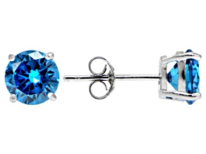 Bella Luce® Esotica™ 2.86ctw  Neon Apatite Simulant Sterling Silver Stud Earrings