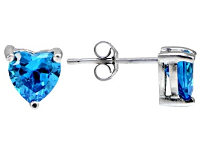 Bella Luce® Esotica™ 2.50ctw  Neon Apatite Simulant Sterling Silver Stud Earrings